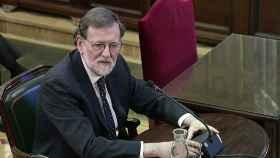Mariano Rajoy, expresidente del Gobierno, en su declaración en el juicio al 'procés'.