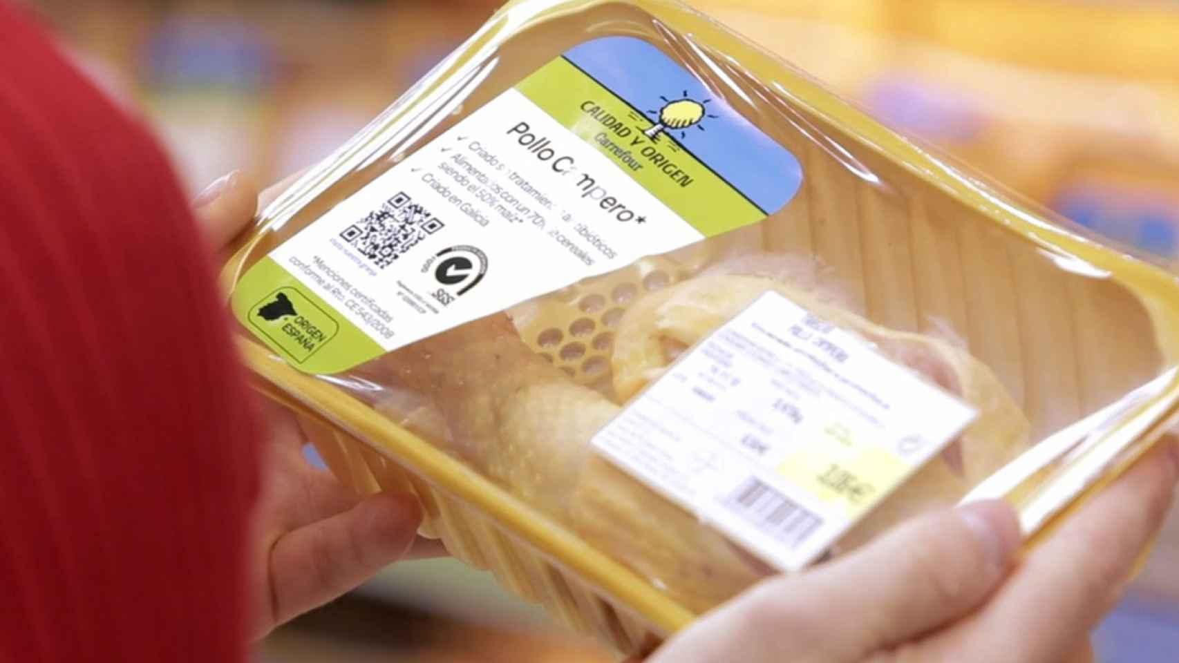 El pollo campero de Carrefour ofrece la trazabilidad completa del producto.
