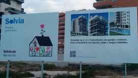 Cartel de Solvia Desarrollos Inmobiliarios.
