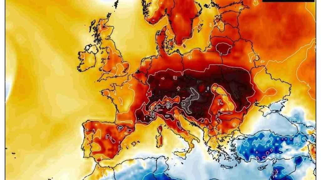 Anomalías de temperatura en Europa en febrero de 2019. Severe-weather-eu.