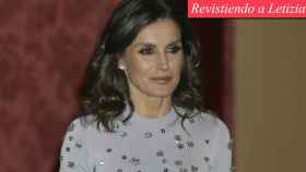 La reina Letizia este jueves por la noche en el Palacio Real de El Pardo.