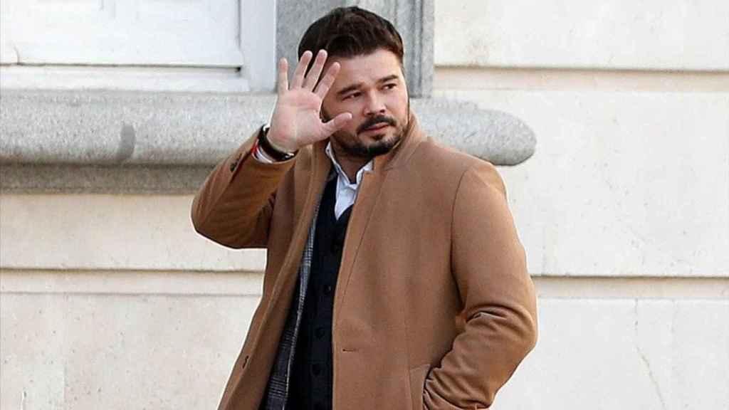 Gabriel Rufián, a su llegada al Tribunal Supremo.