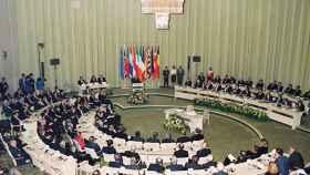 Fotografía del Tratado de Maastricht (Holanda), celebrado el 7 de febrero de 1992