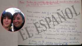 Carta que Francisco Javier García, 'El Cuco', envió a su madre, Rosalía García.