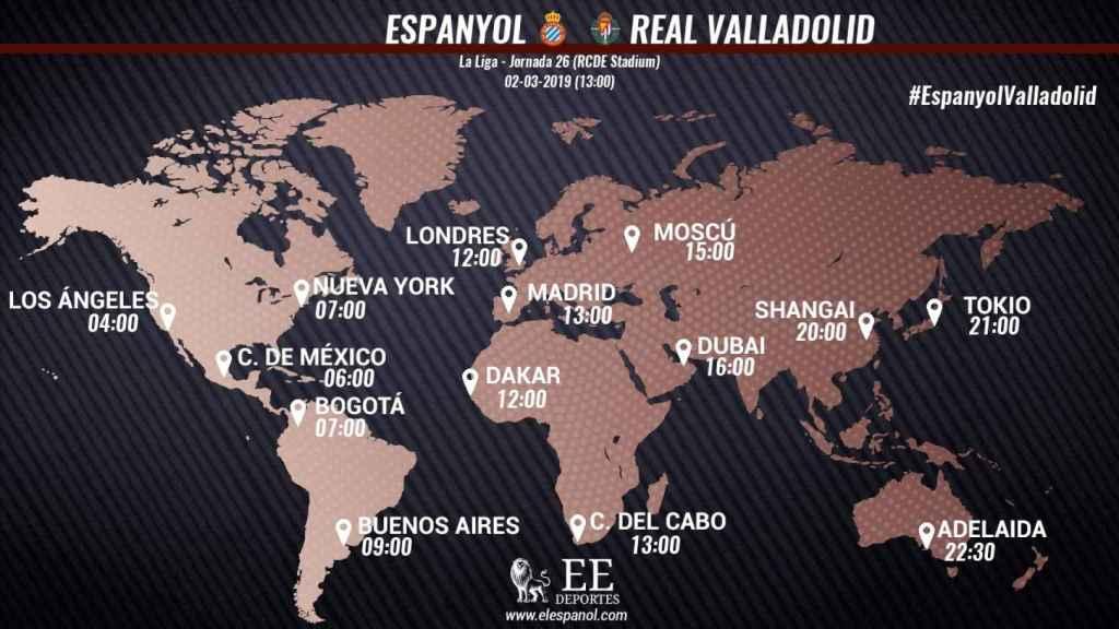 Horario del Espanyol-Valladolid