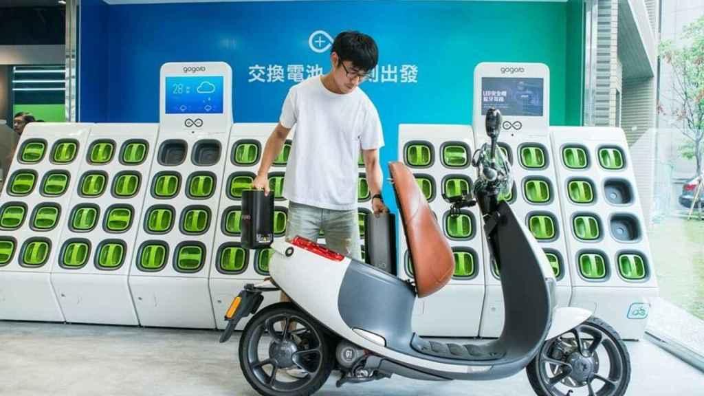 Baterías intercambiables para la moto Gogoro