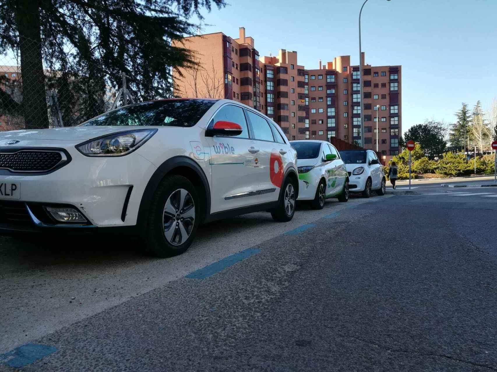 Vehículos de carsharing de Wibl, Zity y Car2go
