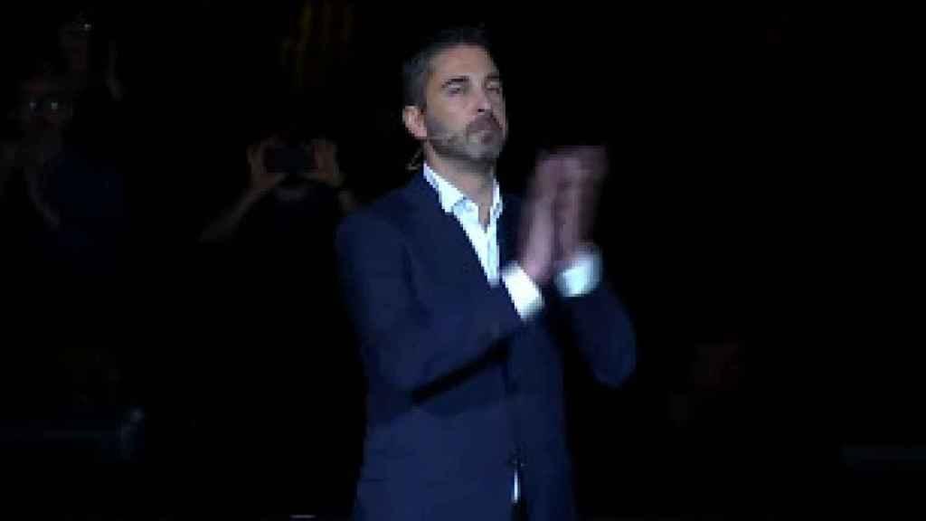 Juan Carlos Navarro en su despedida