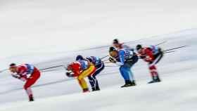 Esquiadores en los Campeonatos del Mundo de Esquí Nórdico