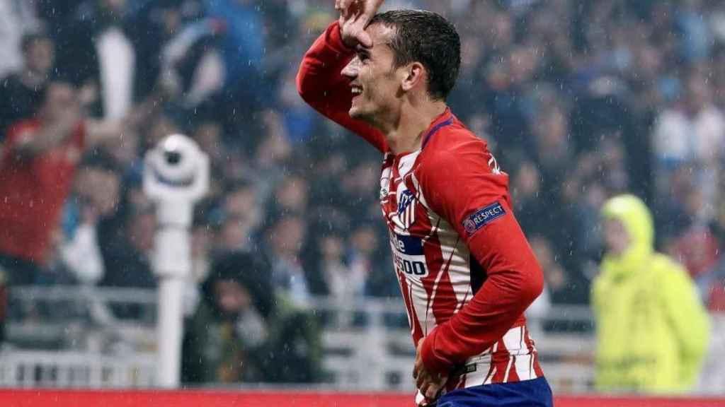 Griezmann celebrando un gol con el Atlético de Madrid