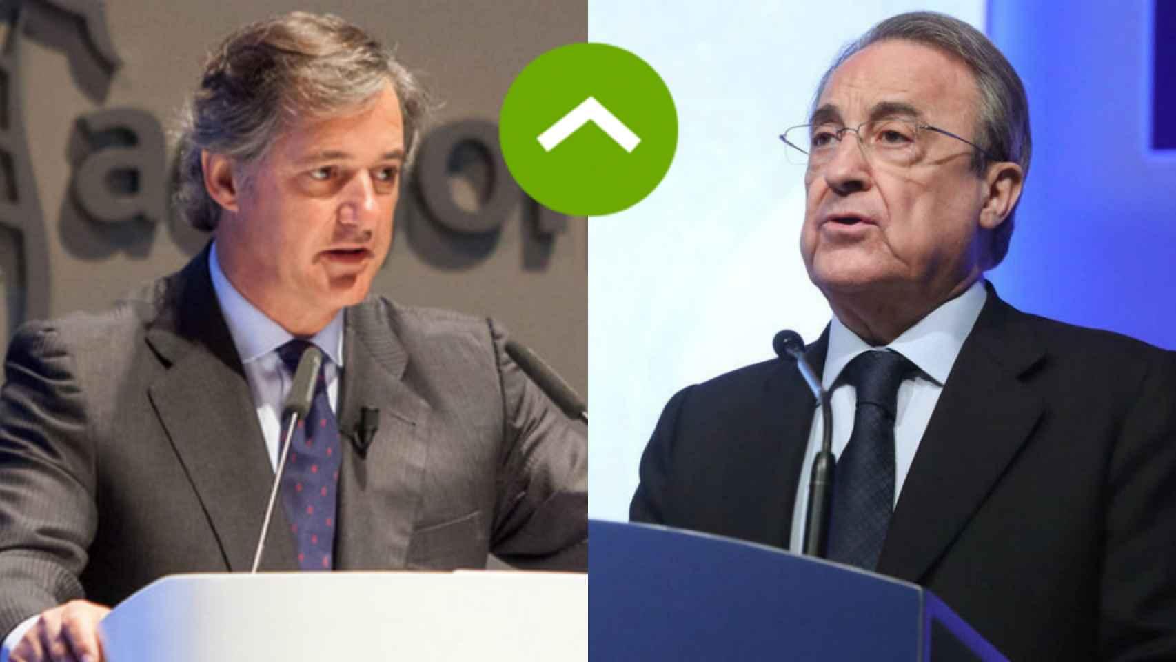 COMO LEONES: José Manuel Entrecanales (Acciona) y Florentino Pérez (ACS)