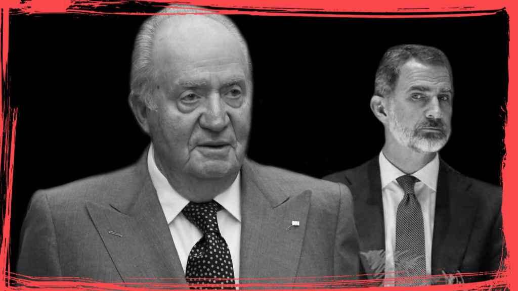 El rey emérito Juan Carlos y su hijo, el rey Felipe VI.