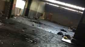 Nave industrial abandonada en Sabadell , donde se produjo la violación múltiple a la joven de 18 años