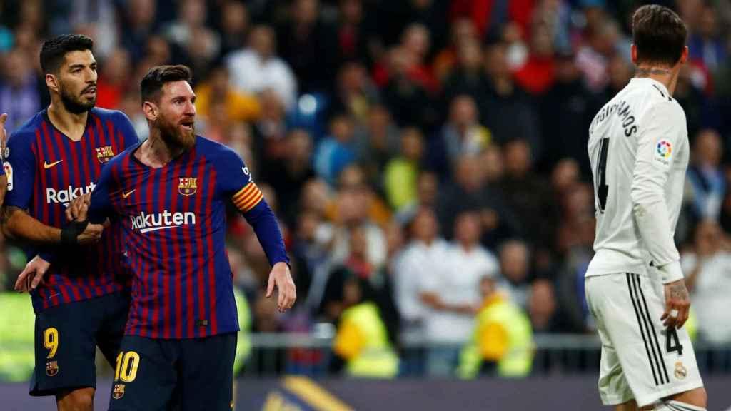 Messi recrimina a Sergio Ramos un golpe recibido