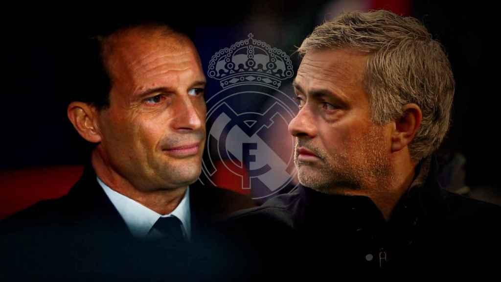 Massimiliano Allegri y Jose Mourinho