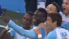 Balotelli celebra su gol subiendo un vídeo a Instagram