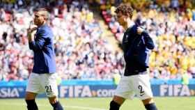 Lucas Hernández y Benjamin Pavard, con la selección francesa en el Mundial de Rusia 2018. Foto: fifa.com