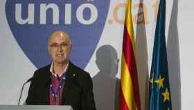 Josep Antoni Duran Lleida, en el momento de anunciar su dimisión.