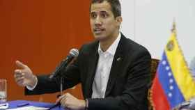 Juan Guaidó, durante la rueda de  prensa en Salinas (Ecuador).