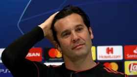 Santiago Solari en la rueda de prensa previa al Real Madrid - Ajax