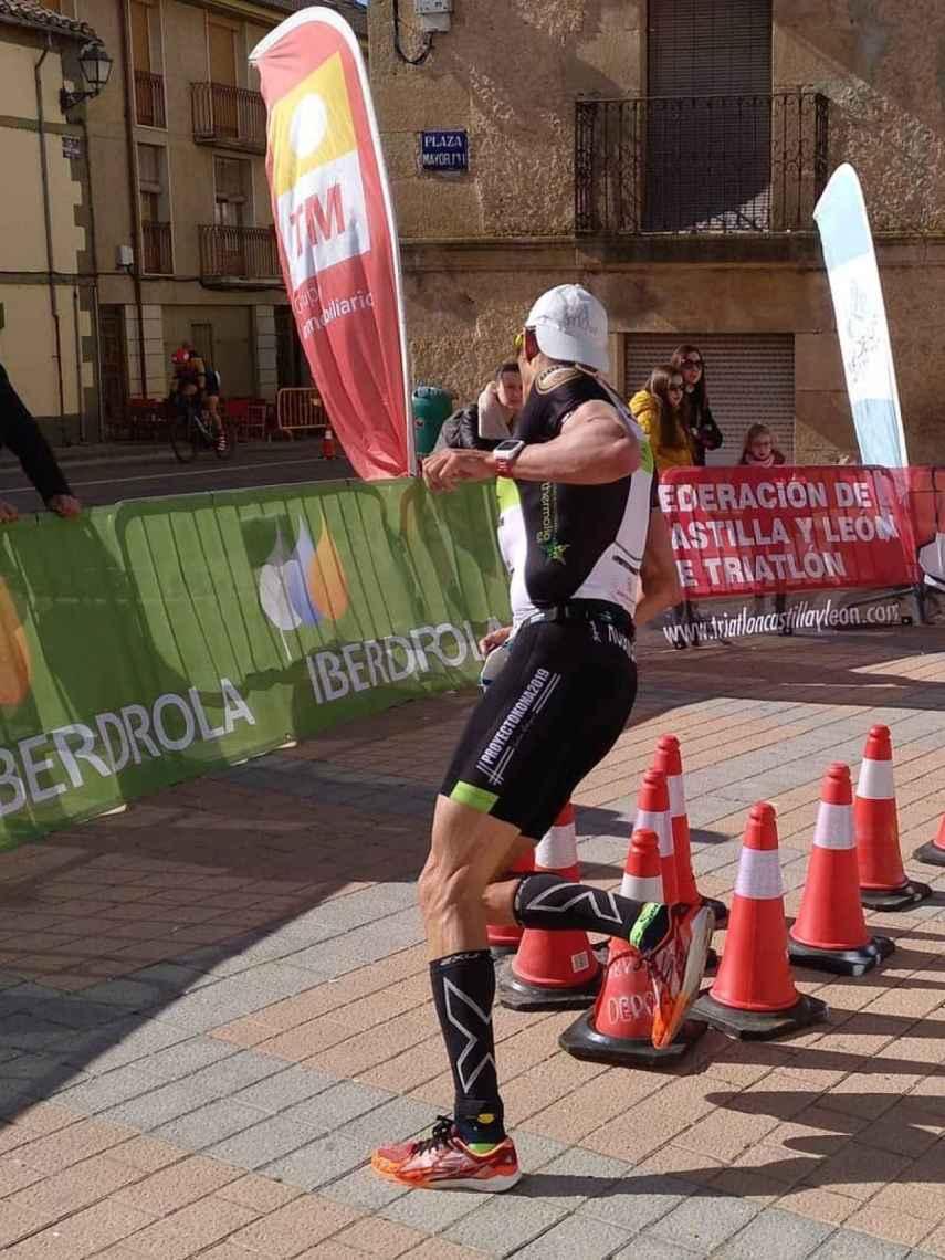 Gustavo Rodríguez en el campeonato de España de duatlón. Foto: Instagram (@triatlonsp)
