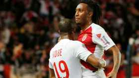 Gelson Martins celebra un gol con el Mónaco