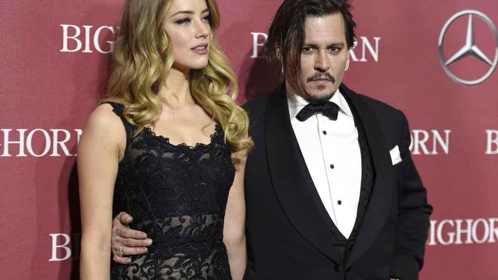 Johnny Depp y Amber Heard en una imagen de archivo.