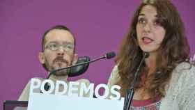 Pablo Echenique y Noelia Vera, en rueda de prensa.