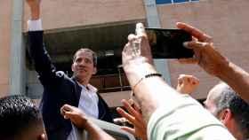 Juan Guaidó, presidente encargado de Venezuela, en su regreso al país.
