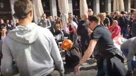 Los aficionados del Ajax en Madrid