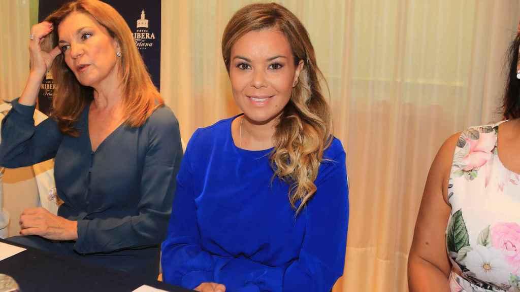 María José Campanario durante una gala en un hotel de Sevilla.