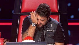 Antonio Orozco en el último programa de 'La Voz', uno de los programas de más audiencias de Antena 3.