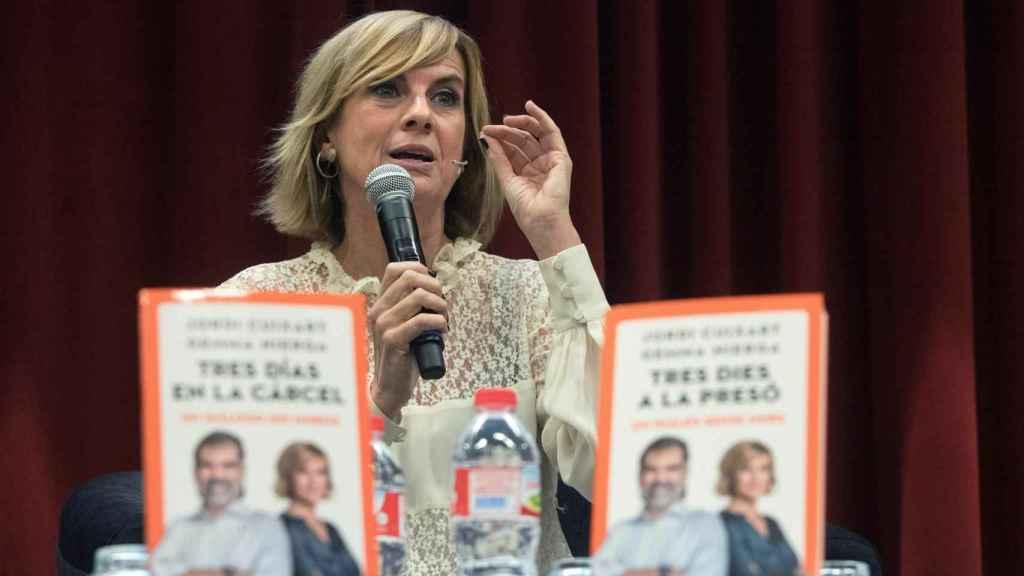 Gemma Nierga en la presentación de su libro sobre Jordi Cuixart.