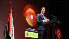 El presidente del Gobierno, Pedro Sánchez, durante la presentación de Estrategia para la IA en I+D+i.