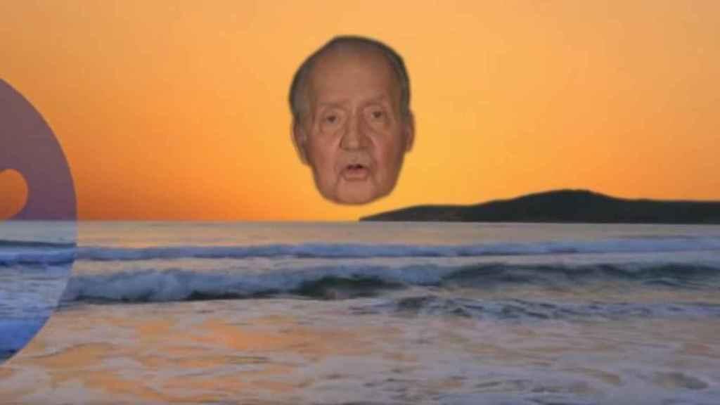 El rey Juan Carlos emulando al sol que ilumina el país en el nuevo vídeo de Joe Crepúsculo.