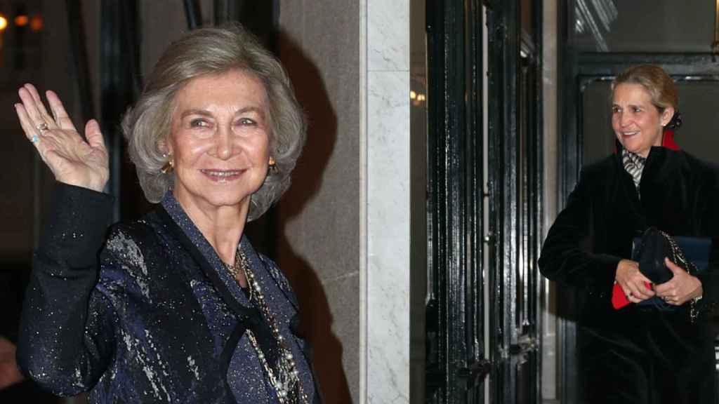 La reina Sofía y la infanta Elena no se perdieron el cumpleaños.