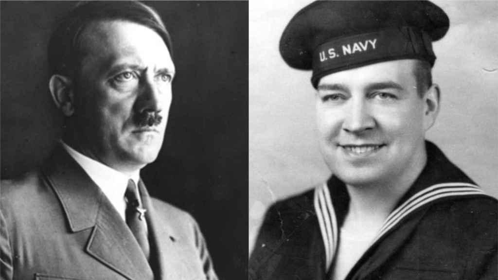 Adolf Hitler y su sobrino Willy con el uniforme de la Marina de EEUU.