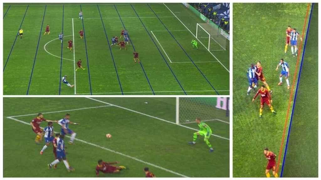 Penalti señalado al Oporto