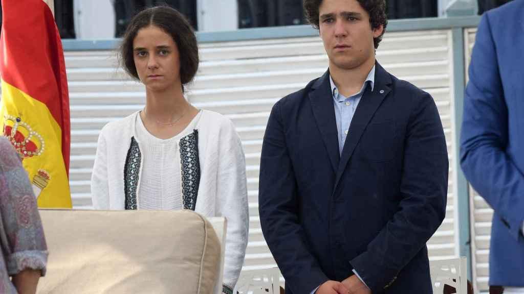 Victoria Federica y Froilán de Marichalar en el verano de 2017 en Sotogrande.