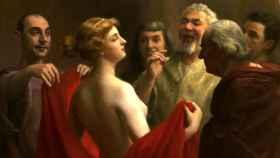 La hetera Friné, pintada por el francés José Frappa
