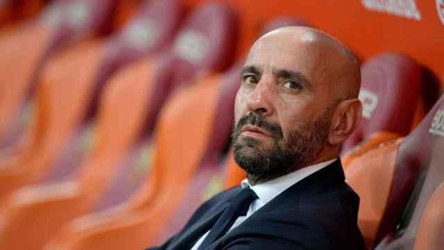 Monchi, en el banquillo de la Roma cuando fue su director deportivo.