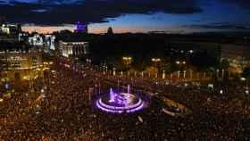 Vista general de la marcha del 8-M de Madrid.