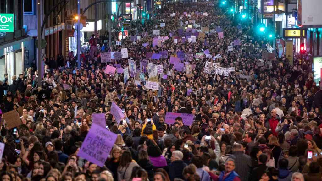 Manifestación del 8-M en Murcia.