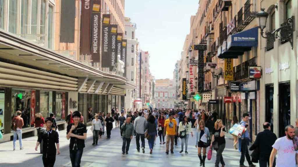 La calle Preciados de Madrid.