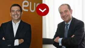 A LOS LEONES: José Carlos Cuevas (Duro Felguera) y Francisco Arteche (Euskaltel)