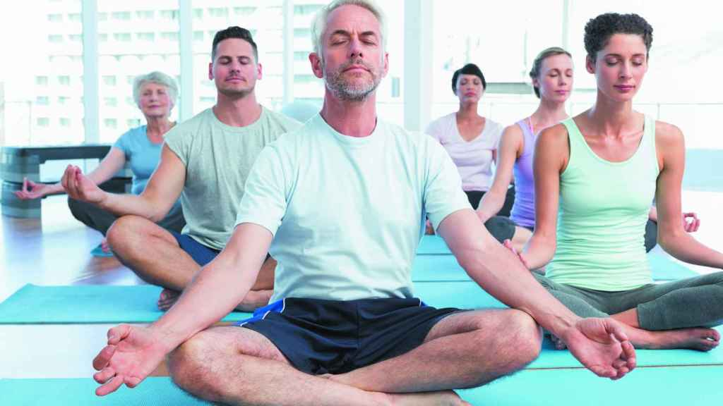 Clase de yoga.
