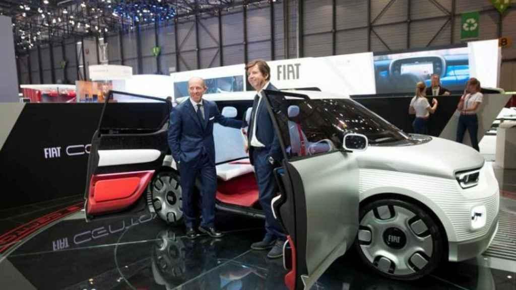Presentación del Fiat Centoventi durante el Salón de Ginebra