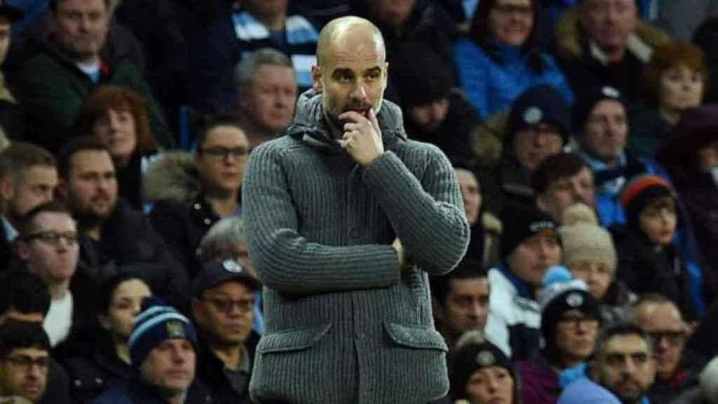 Pep Guardiola durante el City - Watford