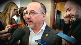 Carles Campuzano (PDeCAT), a la salida de la Junta de Portavoces del Congreso.