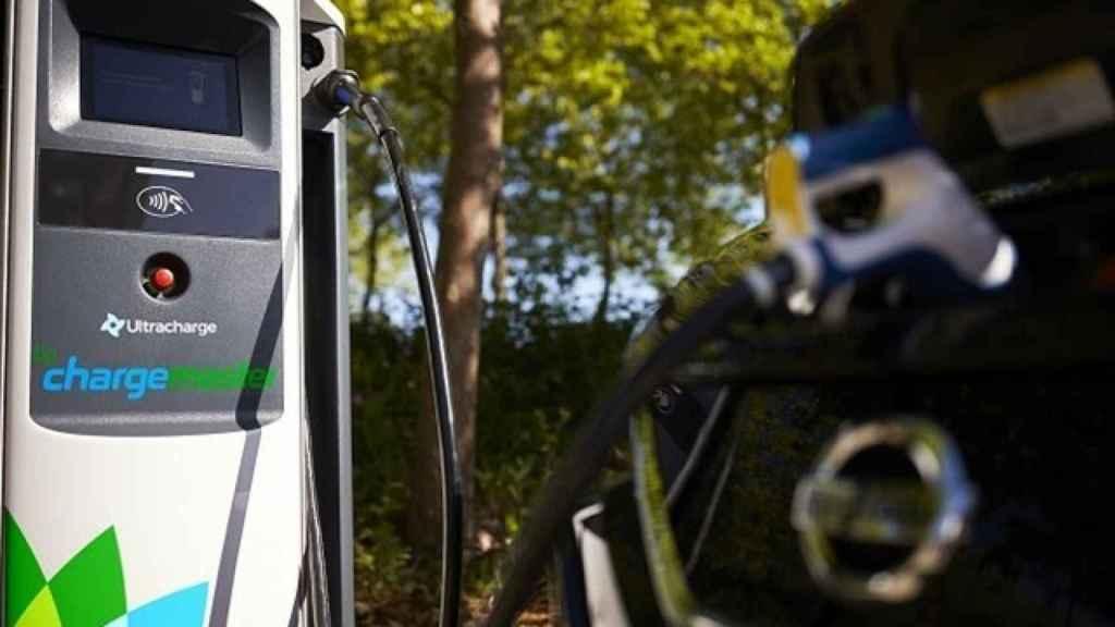 Punto de Carga de vehículo eléctrico. Foto: Europa Press